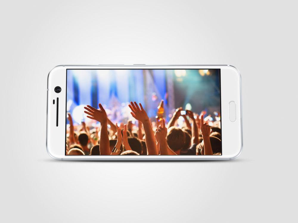 HTC 10 reproduciendo vídeo