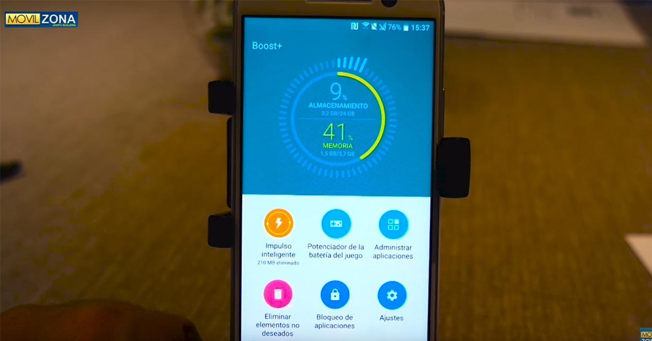 App Boost+ del HTC 10