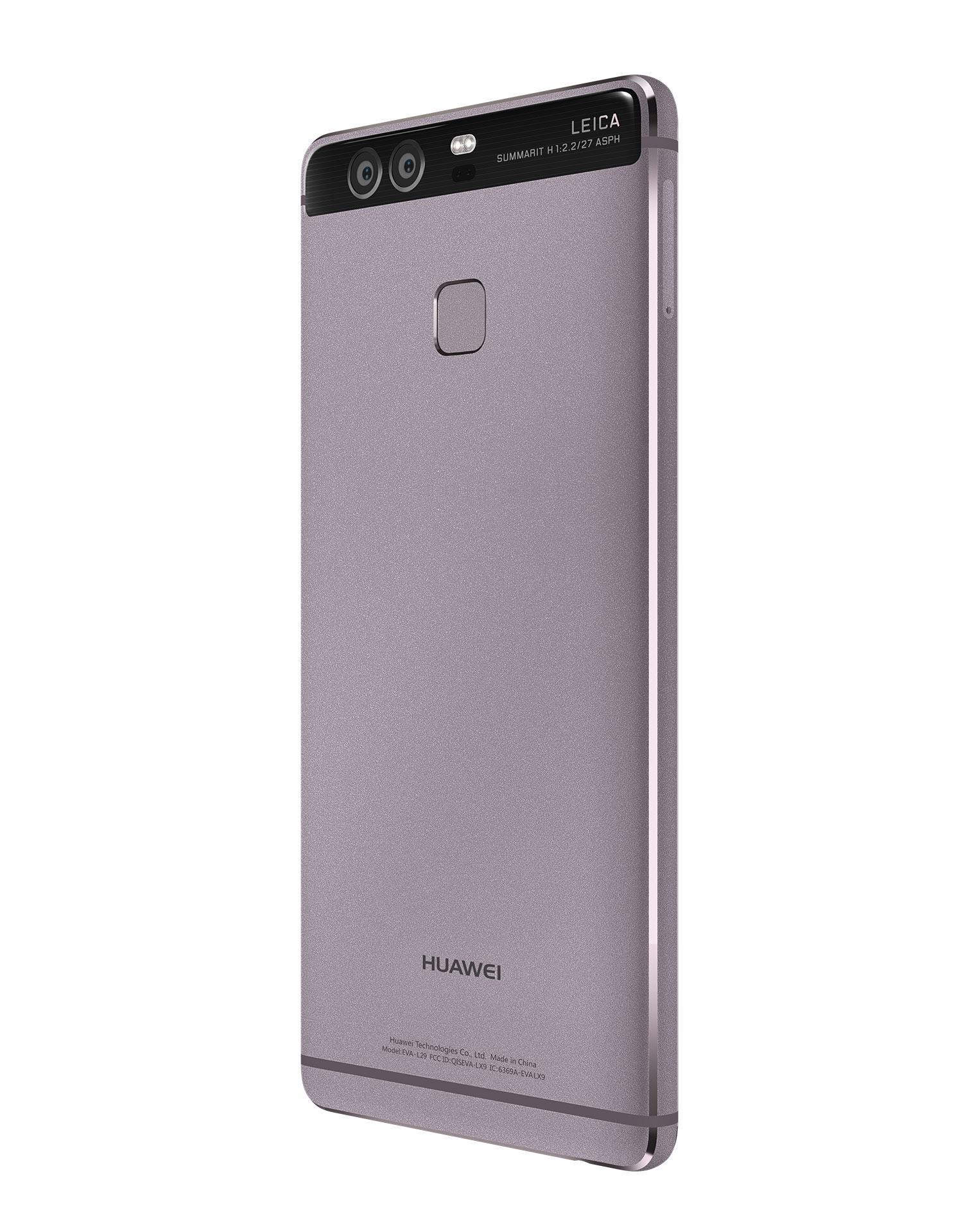Huawei P9 gris detalle de la cámara y del lector de huellas