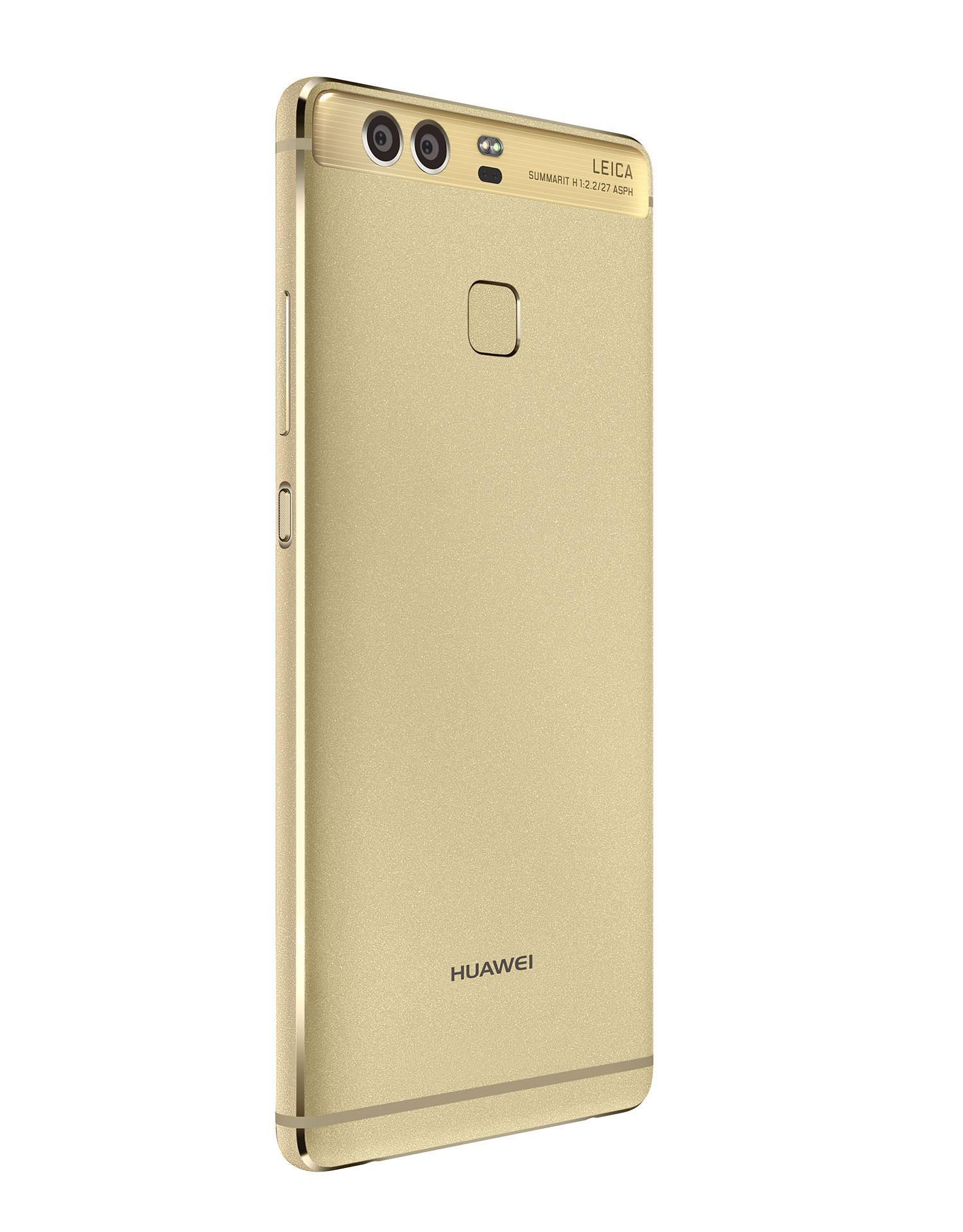 Huawei P9 oro vista trasera