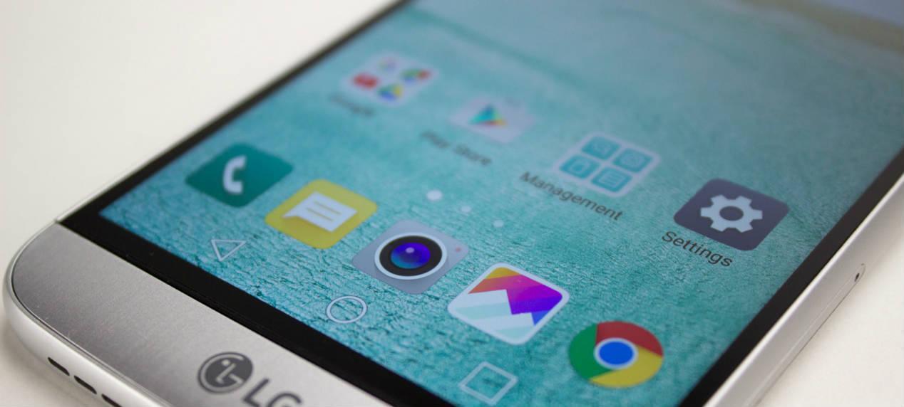 móvil LG G5 pantalla con interfaz