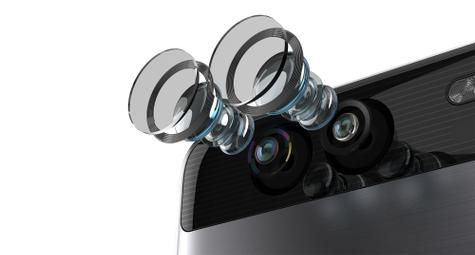 Huawei P9 detalle de la doble lente Leica