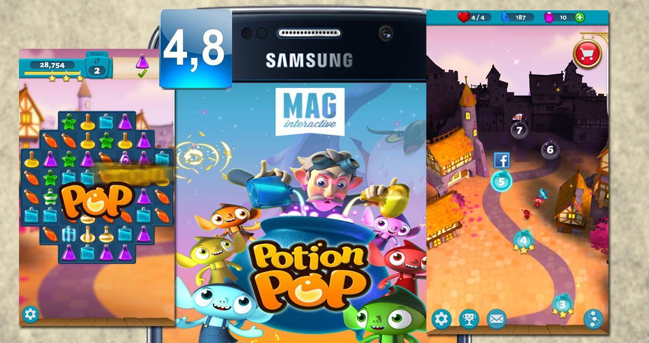 Montaje del juego Motion Pop