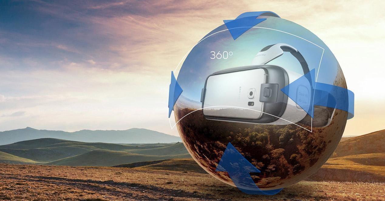 Realidad virtual de Samsung con gafas Gear VR