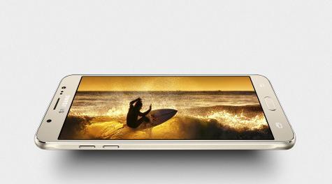 Samsung Galaxy J7 2016 pantalla panorámica