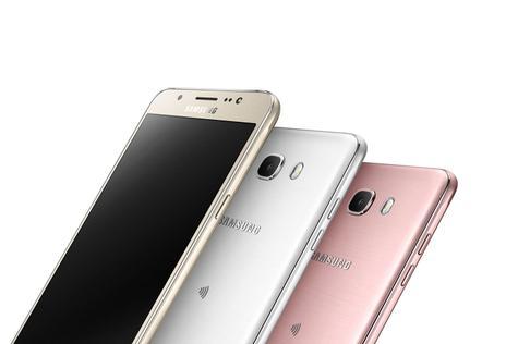 Samsung Galaxy J7 2016 dorado, blanco y rosa