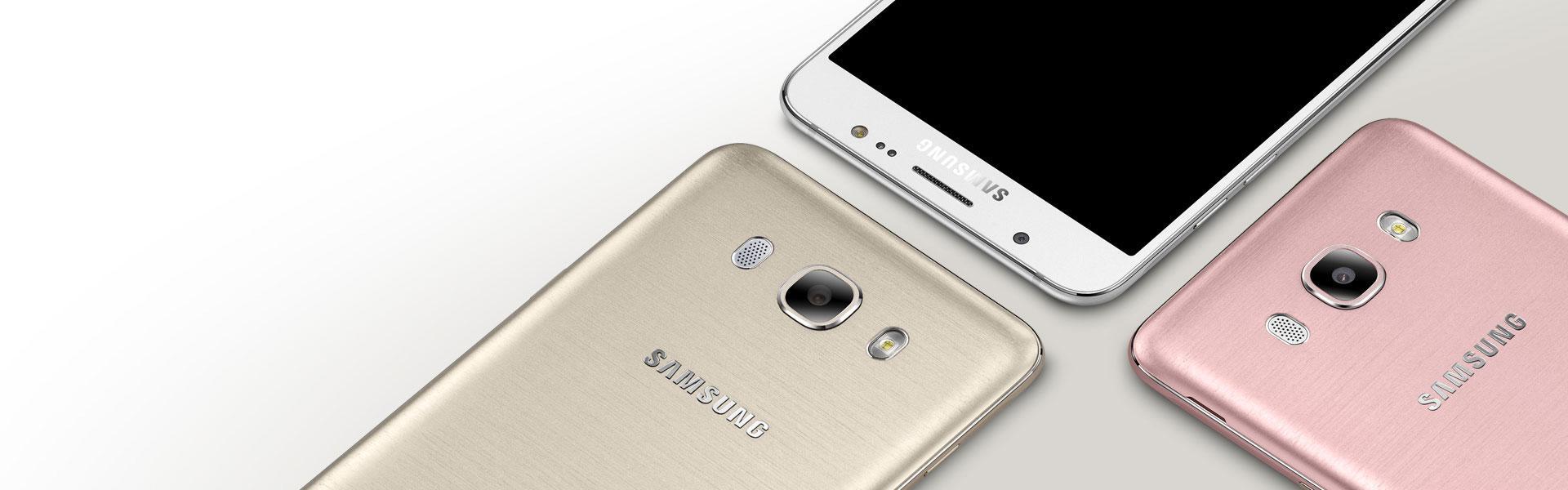 Samsung Galaxy J7 2016 dorado detalle de la cámara