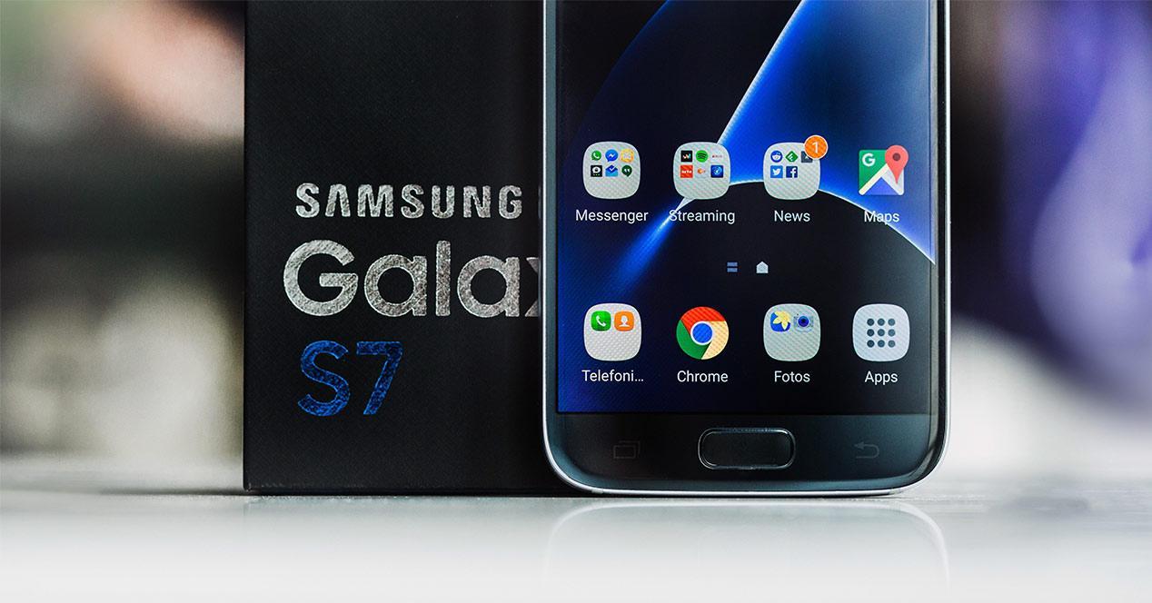 Caja y embalaje del Samsung Galaxy S7
