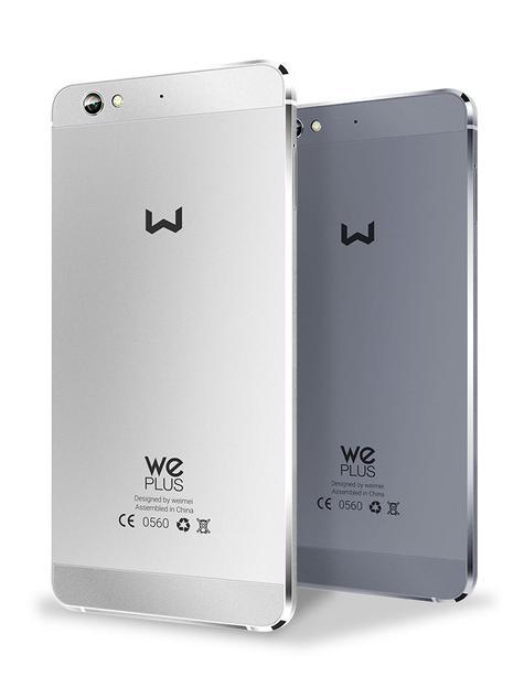 Weimei We Plus blanco y gris visto por detrás