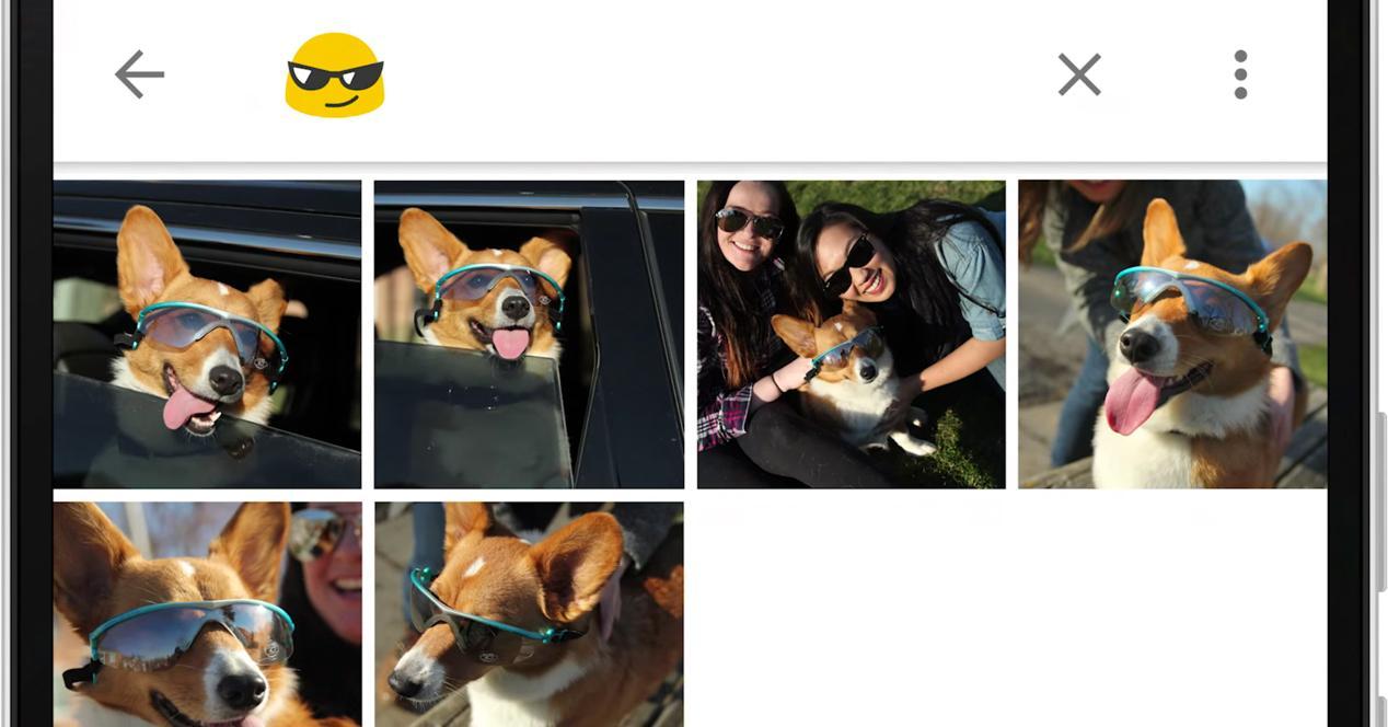 Google Fotos emoji
