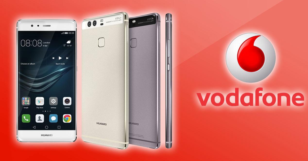 Huawei P9 con logo de Vodafone