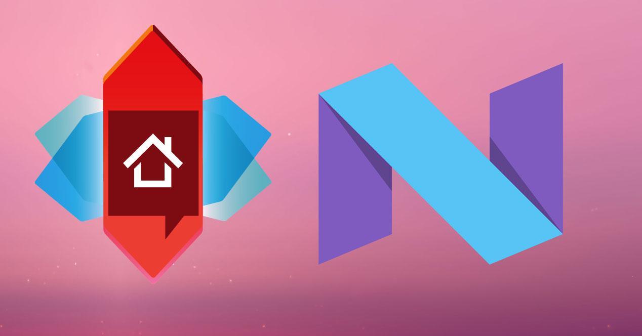 logos nova launcher y android n
