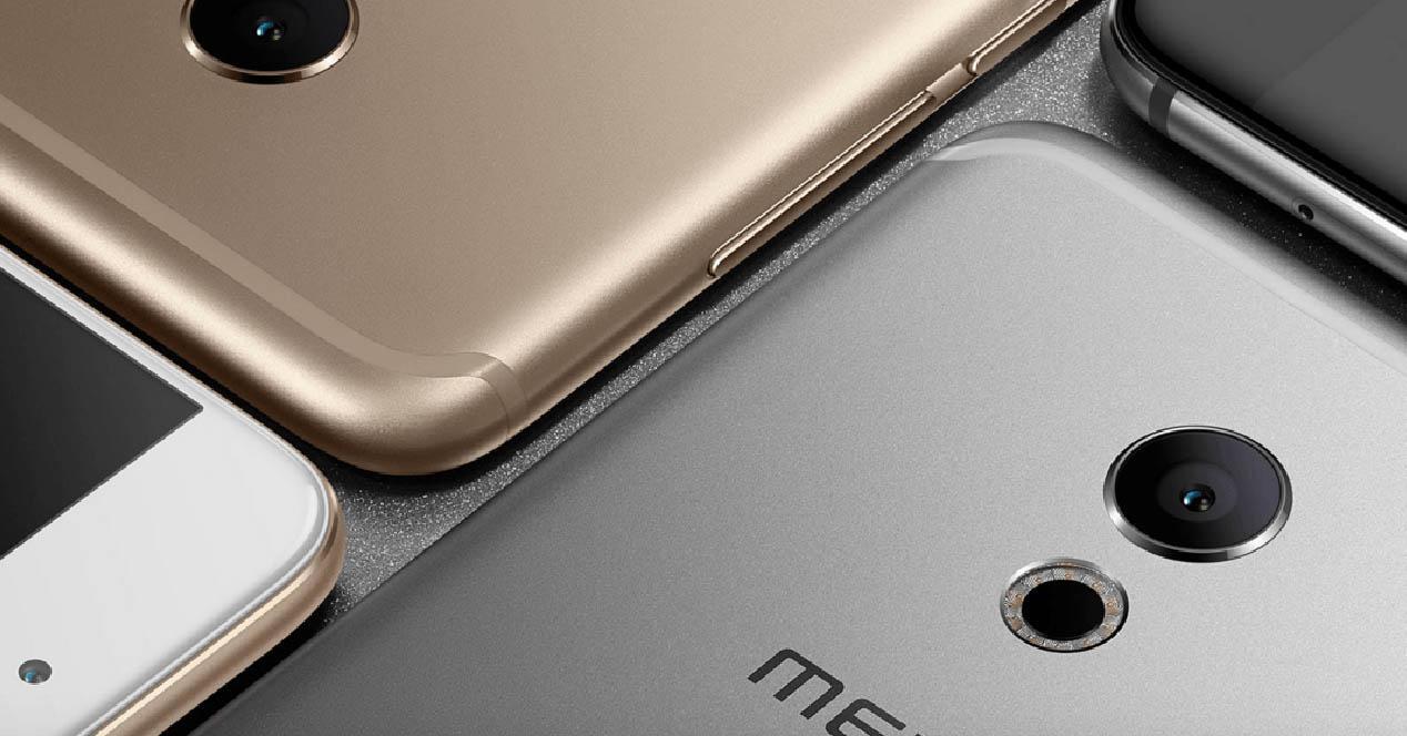 Meizu Pro 6 en color dorado, blanco y gris