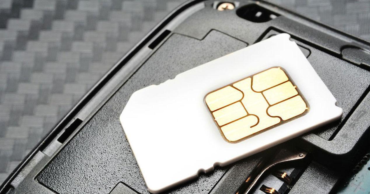 Tarjeta SIM blanca