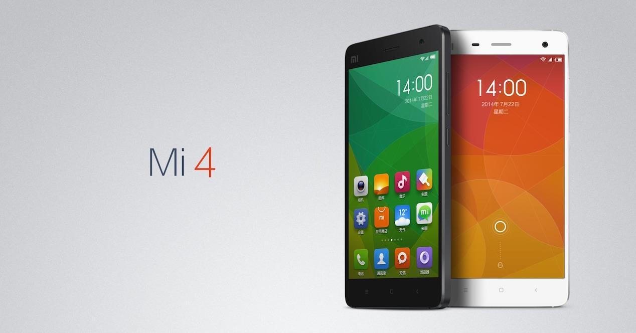 Xiaomi Mi4 en colores blanco y negro