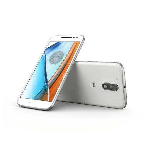 Motorola Moto G4 blanco frontal y trasera