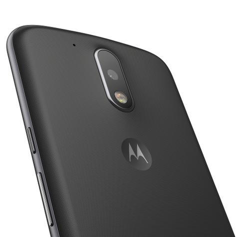 Motorola Moto G4 detalle de la cámara carcasa negra