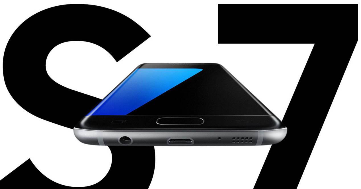 Samsung Galaxy S7 tumbado