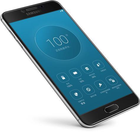 Samsung Galaxy C5 con pantalla azul