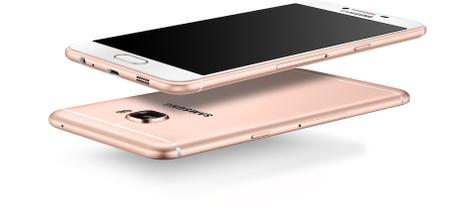 Samsung Galaxy C5 en color rosado