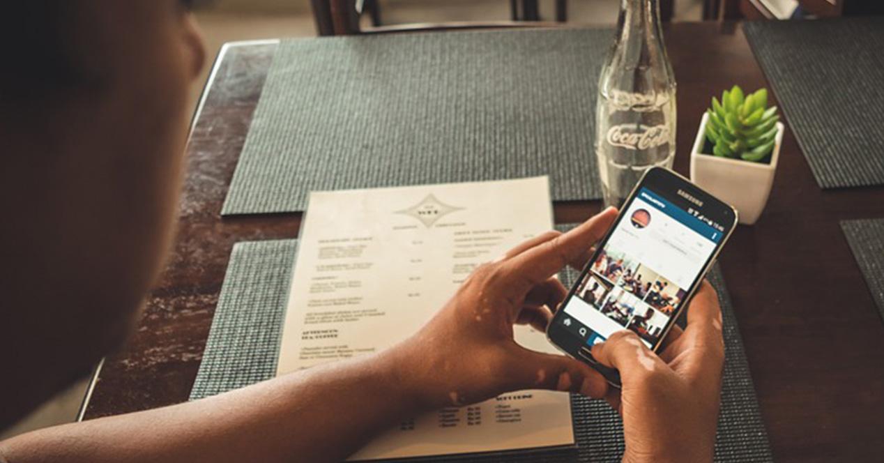 Gestion de redes sociales en un Samsung Galaxy