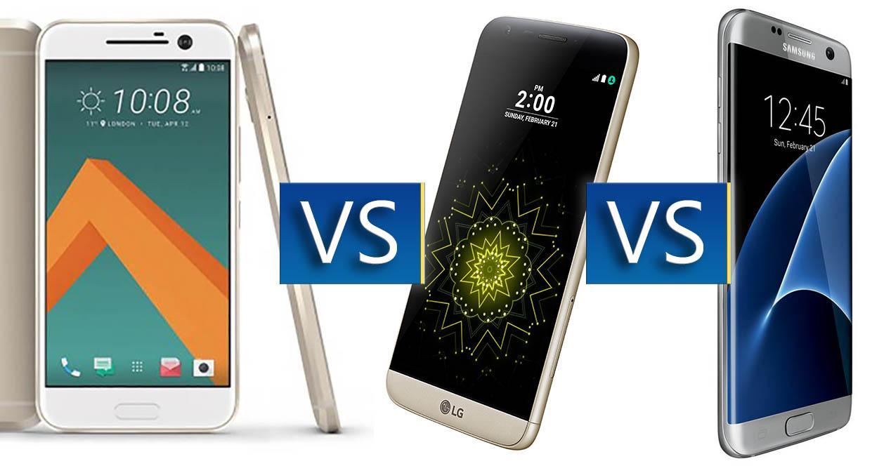 comparativa memoria Samsung Galaxy S7, htc 10. lg g5