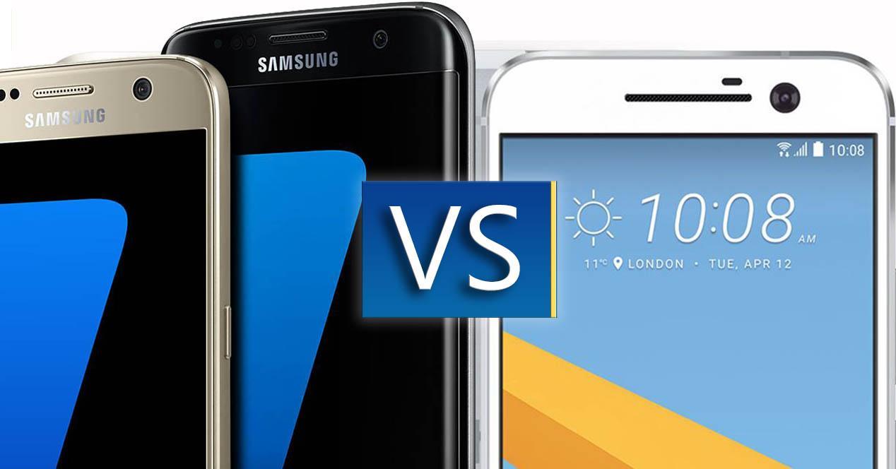 Samsung Galaxy S7 comparativa video HTC 10