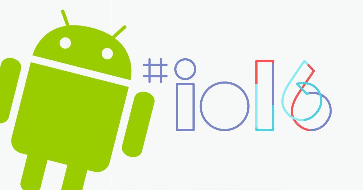 google iO logo con android