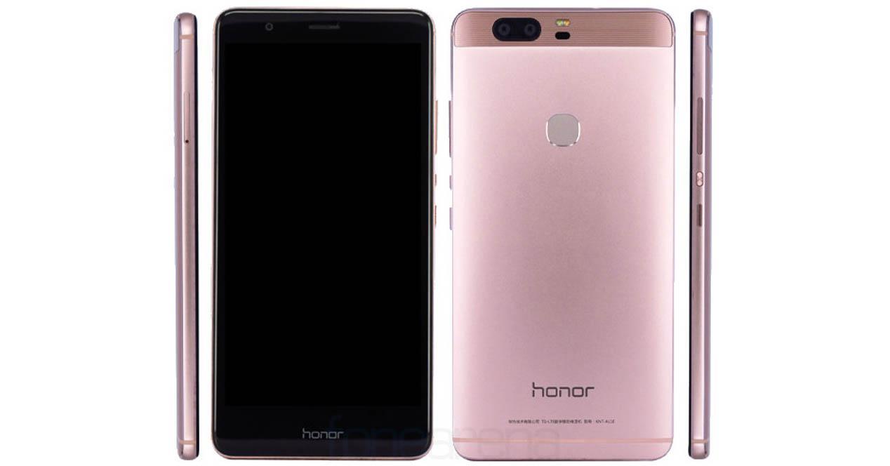 Honor V8 color rosa