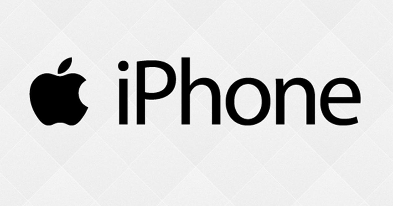 Logo de Apple y marca iPhone