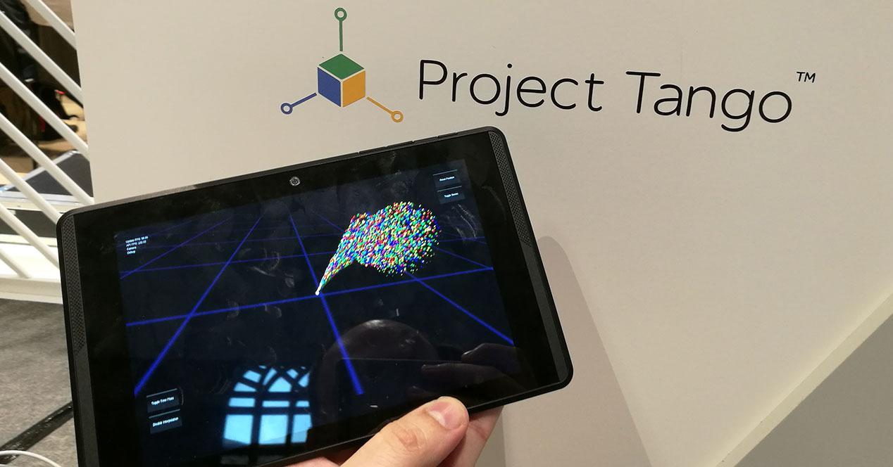 tablet project tango con cartel
