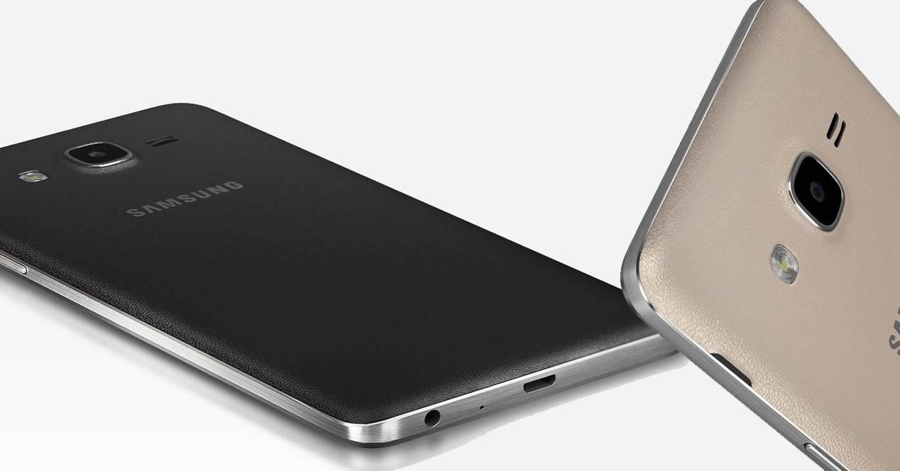 Samsung Galaxy On7 dorado y negro