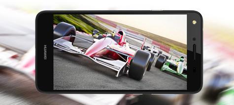 Huawei Y5 II con videojuego en pantalla