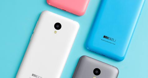 Meizu M2 blanco, azul, rosa y gris