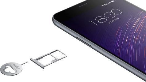 Meizu M2 soporte SIM y microSD