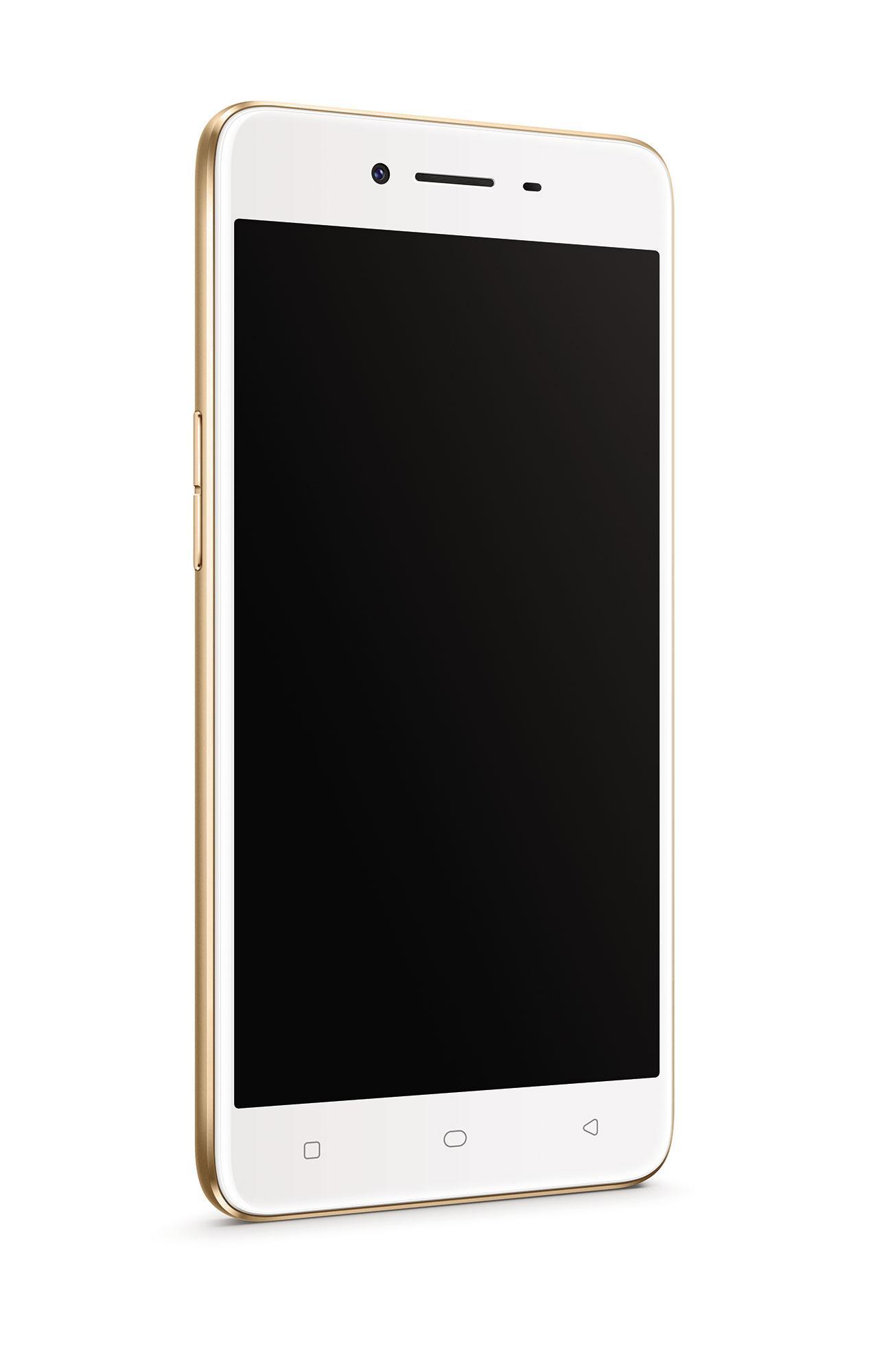 Oppo A37 dorado con pantalla apagada