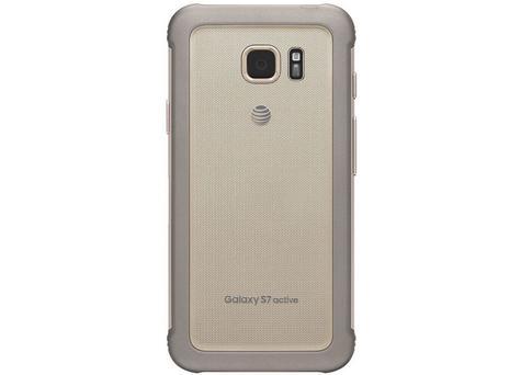 Samsung Galaxy S7 Active detalle de la cámara y vista trasera