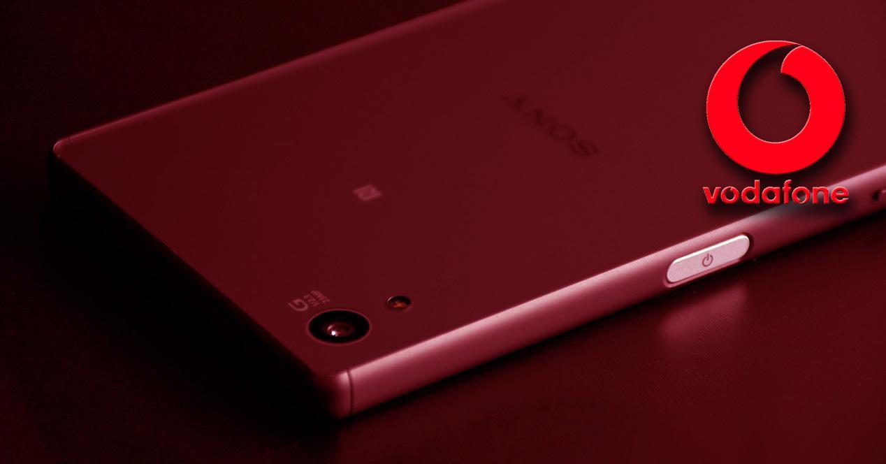 Sony Xperia Z5 con el logo de Vodafone