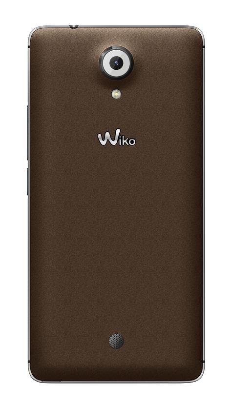 Wiko Ufeel vista trasera en color marrón