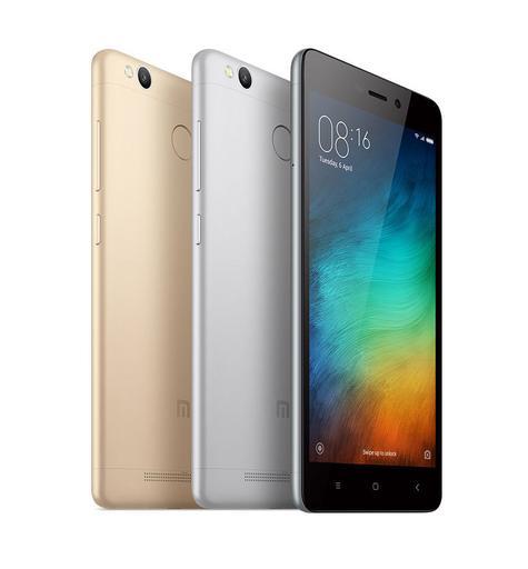 Xiaomi Redmi 3S negro, gris y oro