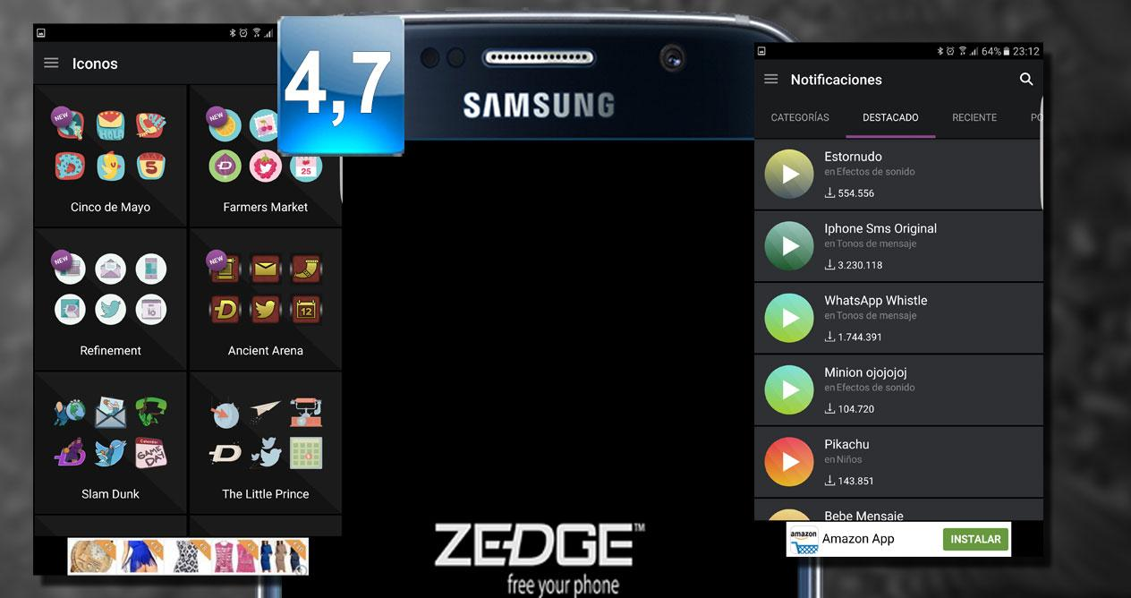 Aplicación Zedge