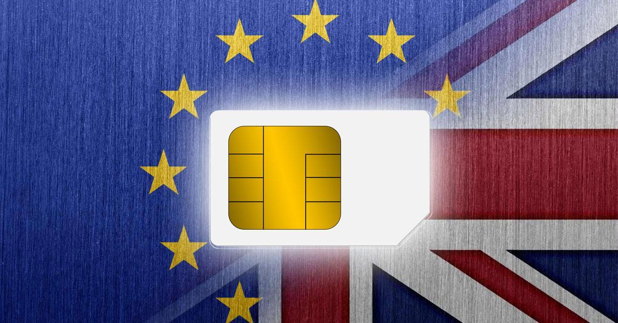 banderas europa y reino unido con tarjeta sim