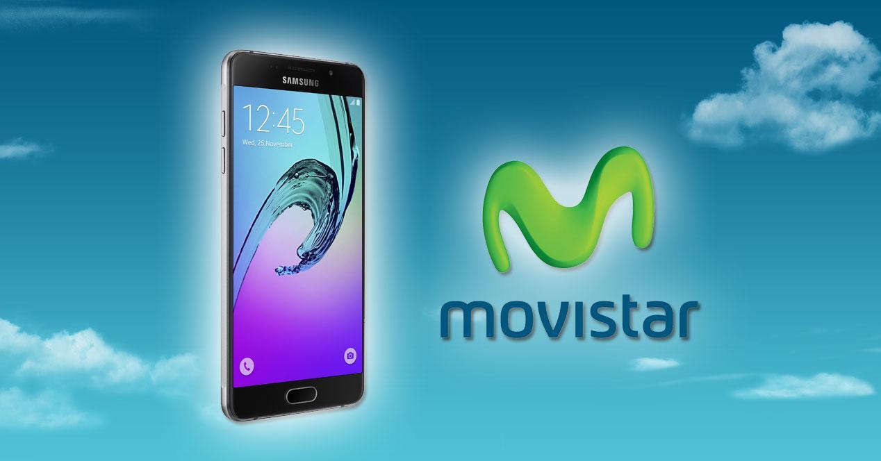 Samsung Galaxy A3 (2016) con logo de movistar