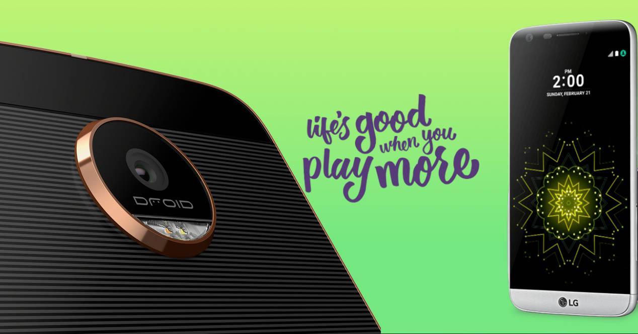 Motorola Moto Z y LG G5