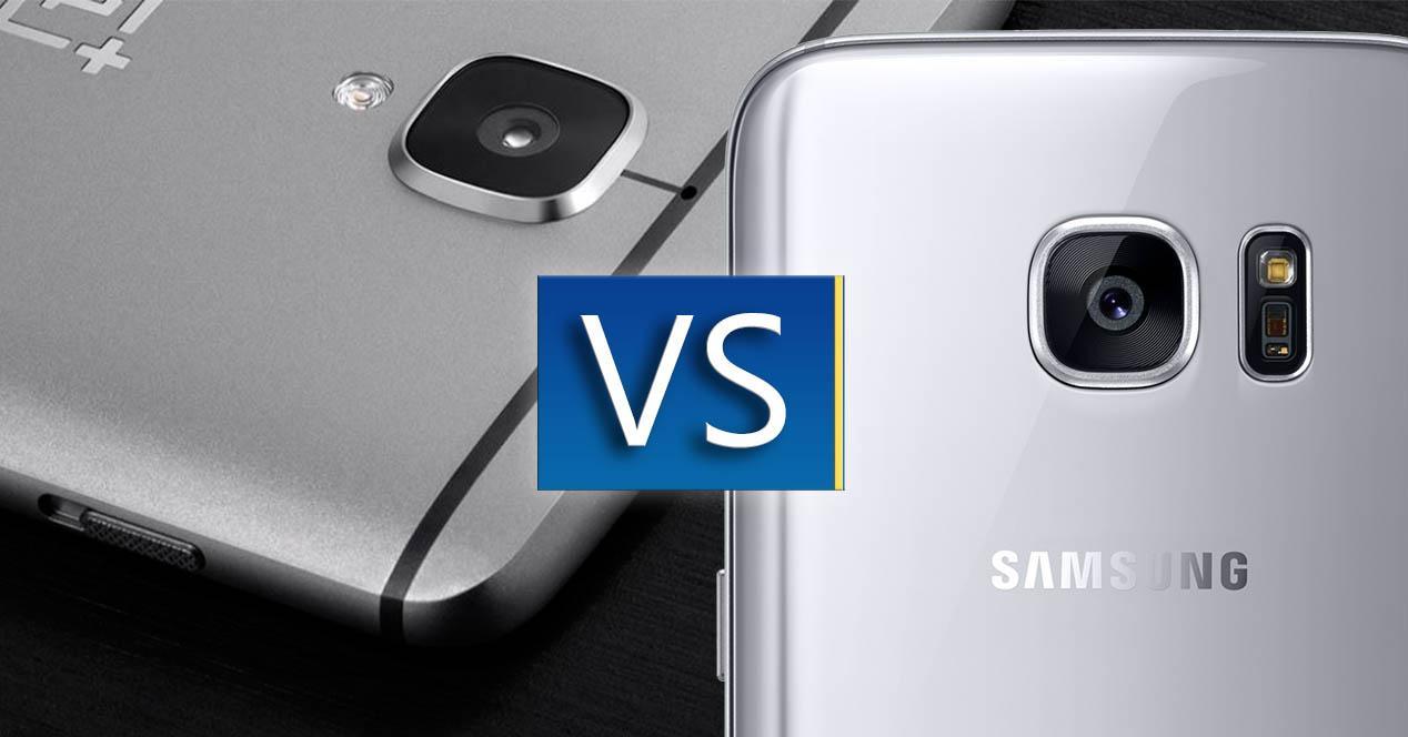 OnePlus 3 frente a Galaxy S7