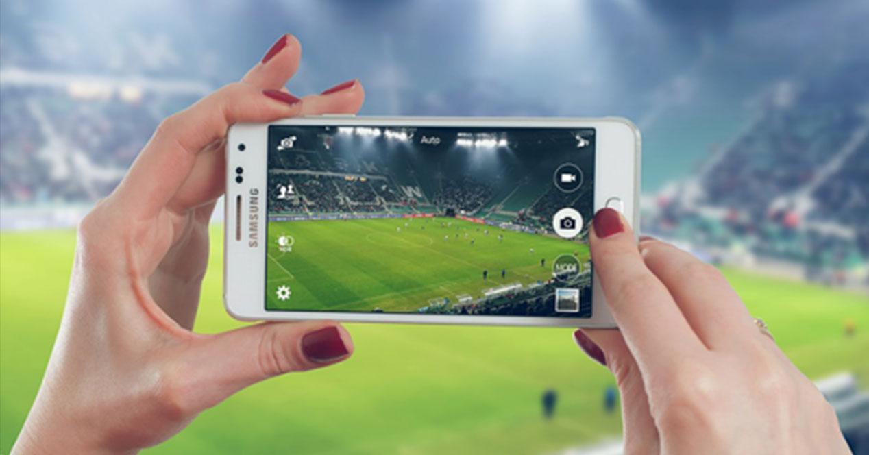 periscope en campo de futbol