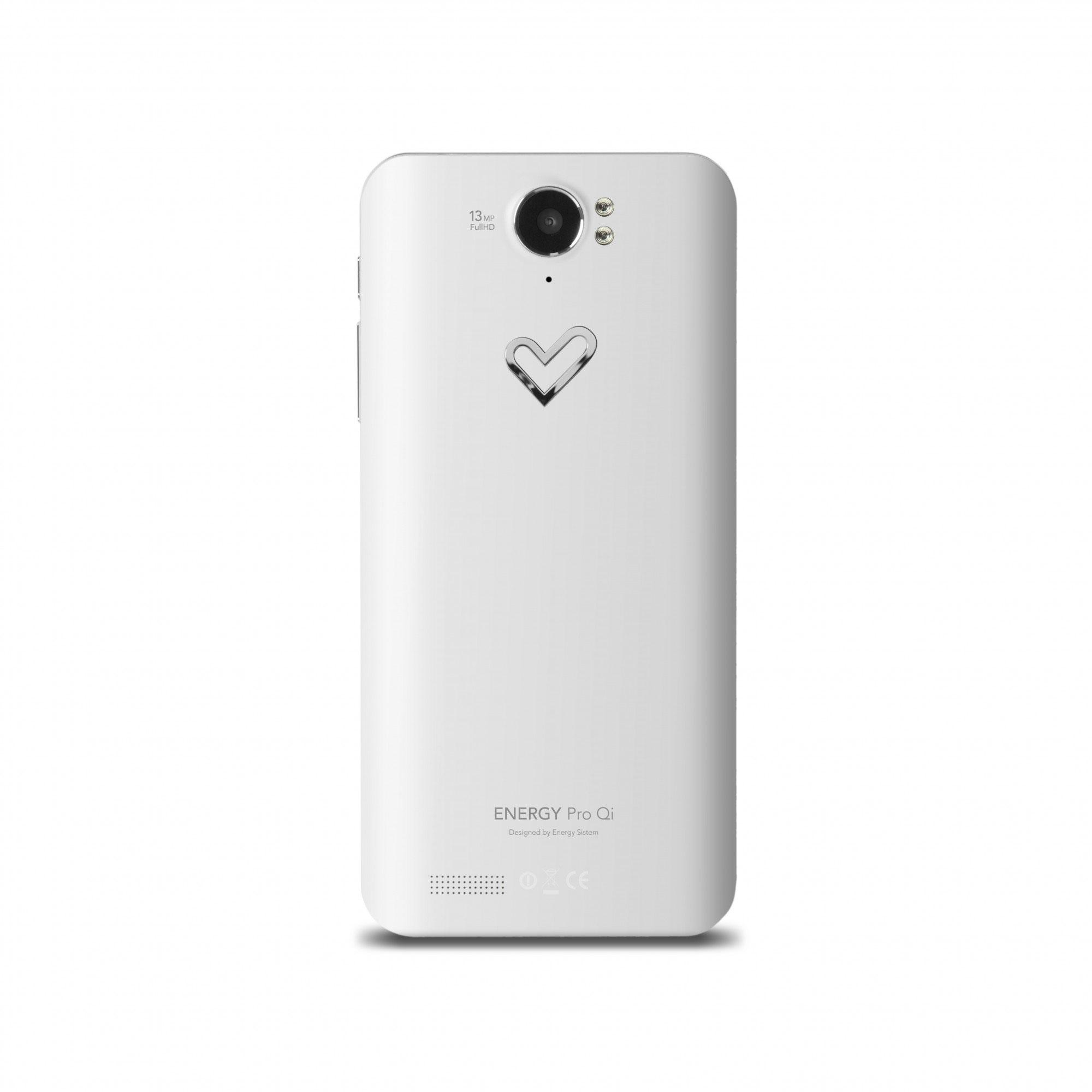 Energy Phone Pro Qi blanco vista trasera de la cámara digital