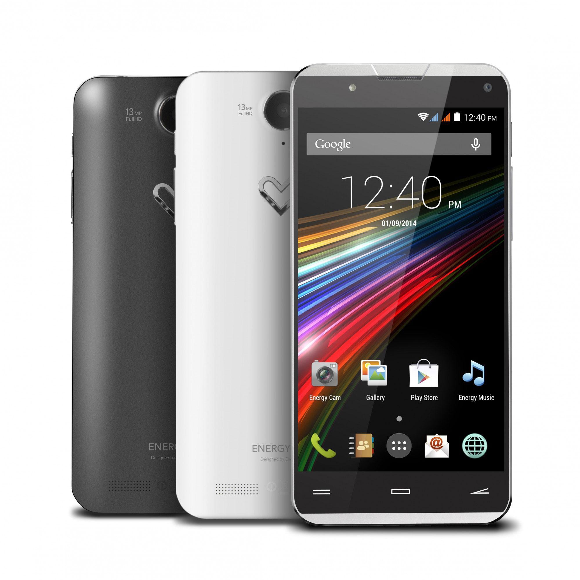 Energy Phone Pro Qi negro y blanco