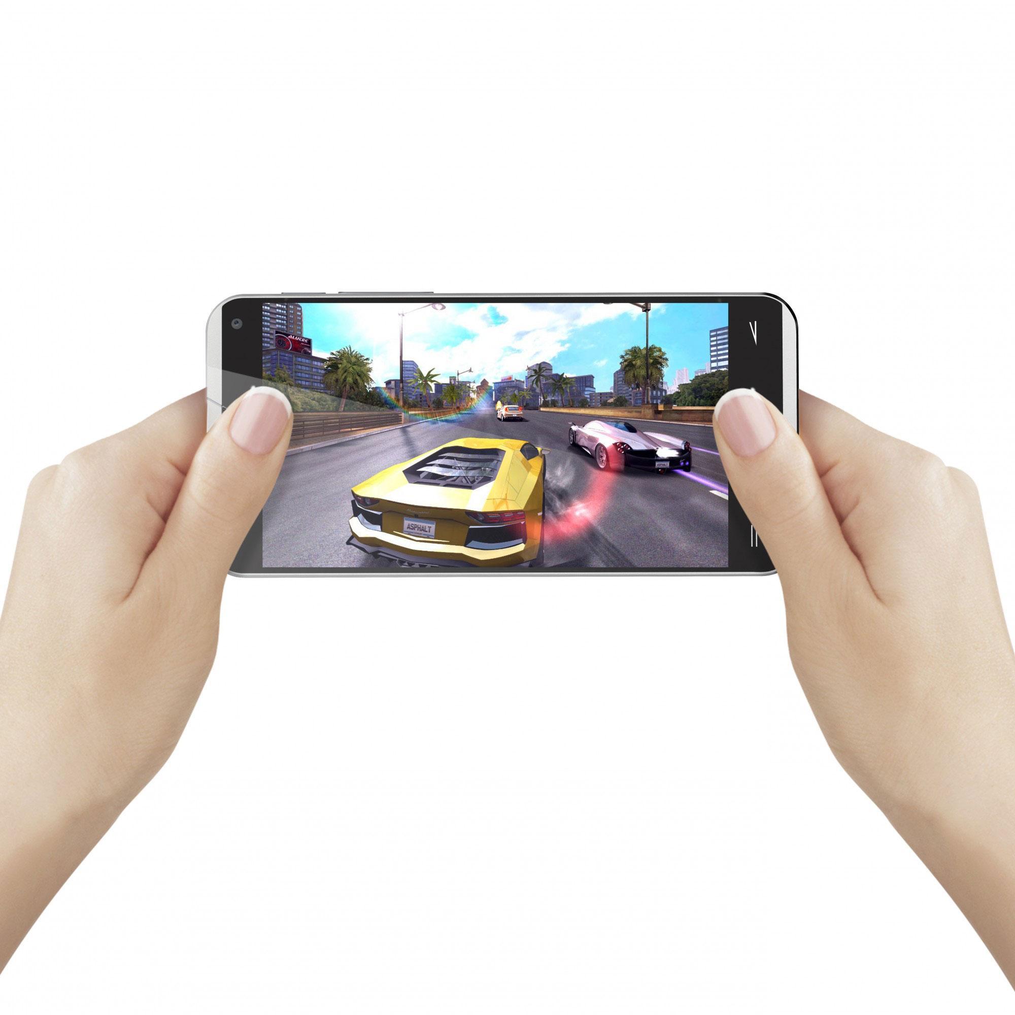 Energy Phone Pro Qi videojuego en pantalla