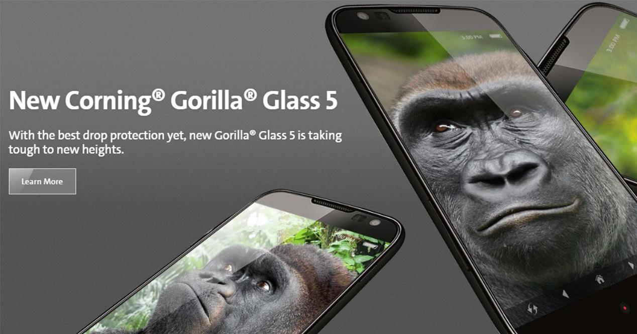 Anuncio oficial de cristal Gorilla Glass 5